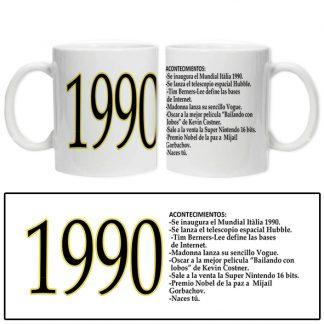 taza acontecimientos 1990