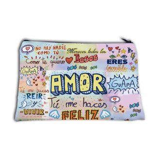 "neceser ""amor tu me haces feliz"""