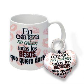 "pack taza + llavero ""en esta taza..."""