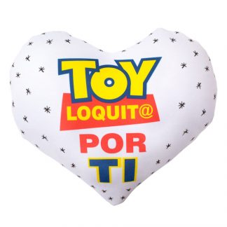 cojín corazón toy loquit@ por ti