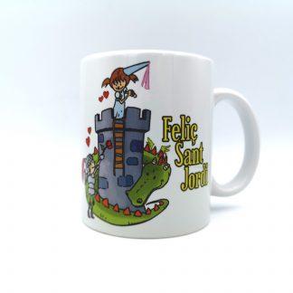 taza castillo feliç sant jordi