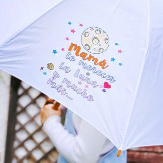 paraguas día de la madre te mereces la luna